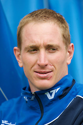 WIGAN, ENGLAND - Monday, May 3, 2010: Wigan Athletic's Chris Kirkland with scars to his face following a recent injury during the Premiership match against Hull City at DW Stadium. (Photo by David Rawcliffe/Propaganda)