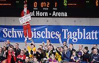 Basketball 1. Bundesliga 2013/2014 Walter Tigers Tuebingen  - s Oliver Baskets Wuerzburg        21.12.2014 Branislav Ratkovica (Tigers) als Papweihnachtmann mit einem Schild; Bane in Hagen 31 Punkte