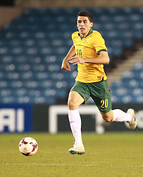 Tommy Rogic of Australia drives forward - Photo mandatory by-line: Robin White/JMP - Tel: Mobile: 07966 386802 01/01/2014 - SPORT - FOOTBALL - The Den - Australia v Ecuador - World Cup Warm Up