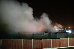 © Licensed to London News Pictures. 11/01/2019. Tamworth, Staffordshire, UK. A large fire at the Sir John Peel Hospital, Mile Oak, Tamworth, Staffs. Flames and smoke could be seen from miles across the Staffordshire County. Photo credit: Dave Warren/LNP