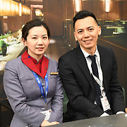 China Airlines stalls exhibition at Business Travel Show 2020 and travel technology europe on 26th February 2020, Olympia London‎, UK.