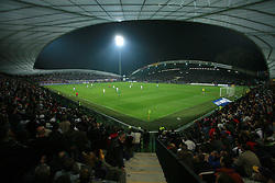 Stadion during the fourth round qualification game of 2010 FIFA WORLD CUP SOUTH AFRICA in Group 3 between Slovenia and Northern Ireland at Stadion Ljudski vrt, on October 11, 2008, in Maribor, Slovenia.  (Photo by Vid Ponikvar / Sportal Images)