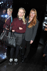 Left to right sisters ALICE GODDARD and MOLLY GODDARD at a party to celebrate the launch of the Marie Claire Runway Magazine held at Le Baron a The Embassy, Old Burlington Street, London on 1st February 2012.