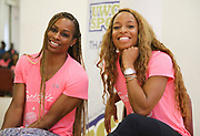 Mar 10, 2018; Cape town, South Africa; Mechelle Lewis Freeman and Natasha Hastings during the TrackGirlz events at University of Western Cape on March 10, 2018 in Cape Town, South Africa. (Roger Sedres/Image of Sport)