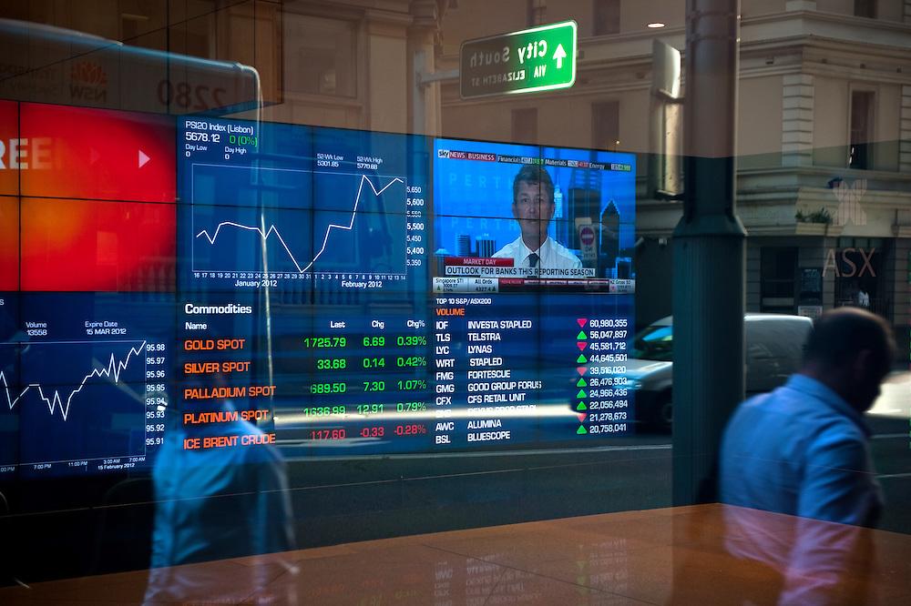 The Australian Stock Exchange in Sydney, Australia.