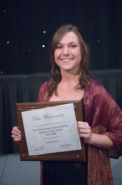 1890525th Annual Leadership Awards Gala..Outstanding Graduate Student Leader Awards..Masters..Brittany Buxton
