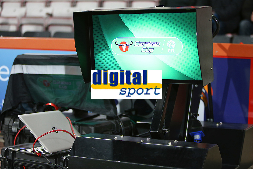 Football - 2017 / 2018 EFL Carabao (League) Cup - Fourth Round : AFC Bournemouth vs. Norwich City<br /> <br /> VAR screen ready for action before tonights Carabao Cup tie at the Vitality Stadium (Dean Court) Bournemouth <br /> <br /> COLORSPORT/SHAUN BOGGUST