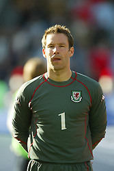 OSLO, NORWAY - Thursday, May 27, 2004:  Wales' goalkeeper Danny Coyne pictured before the International Friendly match at the Ullevaal Stadium, Oslo, Norway. (Photo by David Rawcliffe/Propaganda)