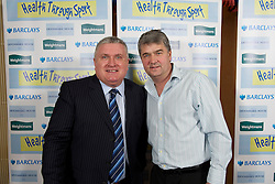 LIVERPOOL, ENGLAND - Friday, November 26, 2010: Ronnie Goodlass and Ian Snodin during a Health Through Sport Charity Dinner at the Devonshire House. (Photo by David Rawcliffe/Propaganda)