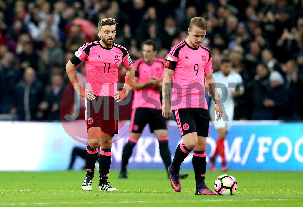 Scotland players look dejected after conceding a goal - Mandatory by-line: Robbie Stephenson/JMP - 11/11/2016 - FOOTBALL - Wembley Stadium - London, United Kingdom - England v Scotland - European World Cup Qualifiers