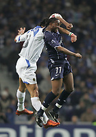 "PORTUGAL - PORTO 23 FEBRUARY 2005: MARCO MATERAZZI #23 (L) and Benedict MACCARTHY #77, compete for the ball  in the First Knock-out Round First Leg of the UEFA Champions League, match FC Porto (1) vs FC Internazionale (1), held in ""Dragao"" stadium  23/02/2005  19:53:20<br />