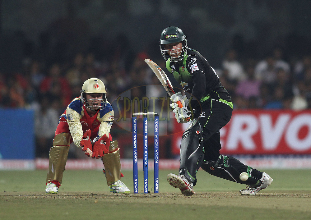 Justin Kreusch of the Warriors comes down the wicket during match 1 of the NOKIA Champions League T20 ( CLT20 )between the Royal Challengers Bangalore and the Warriors held at the  M.Chinnaswamy Stadium in Bangalore , Karnataka, India on the 23rd September 2011..Photo by Shaun Roy/BCCI/SPORTZPICS