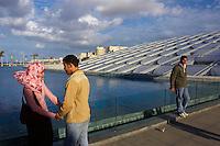 Egypte, la côte méditerranéenne, Alexandrie, la bibliothèque Alexandrina  // Egypt, Alexandria, Alexandrina Library.