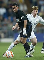 Fotball<br /> Spania 2005/2006<br /> Foto: Miguelez/Digitalsport<br /> NORWAY ONLY<br /> <br /> 08.04.2006<br /> Real Madrid v Real Sociedad<br /> <br /> Alvaro Novo and Cassano