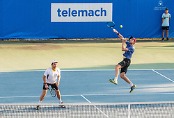 Dane Propoggia (AUS) and Scott Puodziunas (AUS) playing doubles during Day 4 of ATP Challenger Zavarovalnica Sava Slovenia Open 2018, on August 6, 2018 in Sports centre, Portoroz/Portorose, Slovenia. Photo by Vid Ponikvar / Sportida