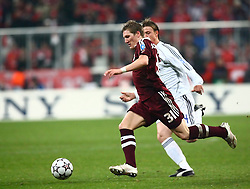Munich, Germany - Wednesday, March 7, 2007: Bayern Munich's Bastian Schweinsteiger in action against Real Madrid during the UEFA Champions League First Knock-out Round 2nd Leg at the Allianz Arena. (Pic by Christian Kolb/Propaganda/Hochzwei) +++UK SALES ONLY+++