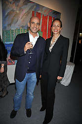 GUY & ANDREA DELLAL at the Moet Hennessy Pavilion of Art & Design London Prize 2009 held in Berkeley Square, London on 12th October 2009.