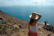 Amatista viewpoint CABO DE GATA NATURAL PARK Almeria province Andalusia Spain
