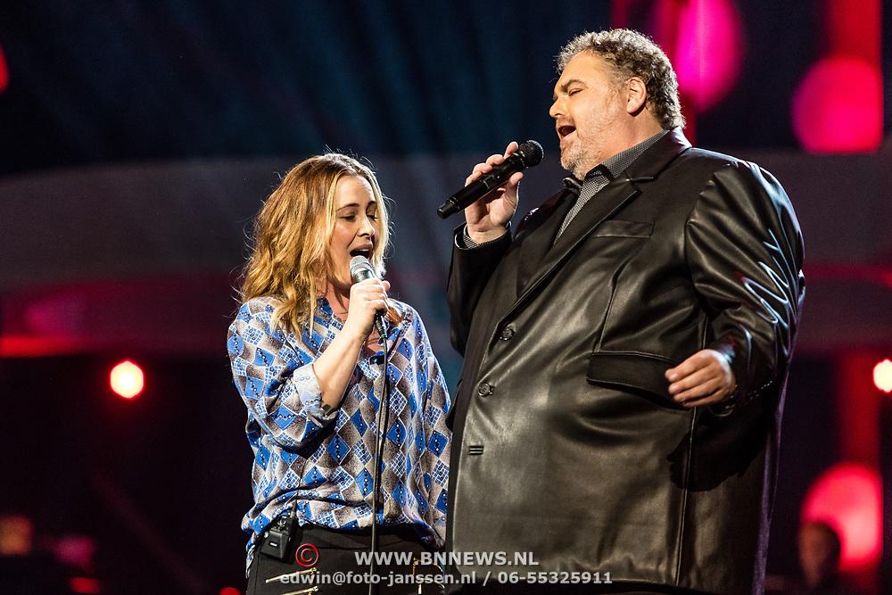 NLD/Amsterdam/20170317 - Holland zingt Hazes 2017, Anouk en Peter Beense