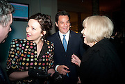 RACHEL STIRLING; DAME DIANA RIGG; ERIC DEARDORFF CEO GARRARD, Cecil Beaton private view. V and A Museum. London. 6 February 2012