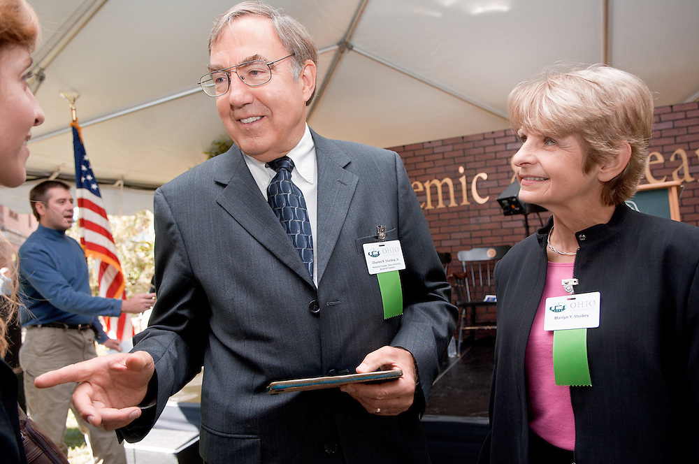 18414Academic & Research Center Groundbreaking September 29, 2007..Mr. and Mrs. Stuckey