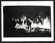 Burning boat, Oriel, Oxford. 1983