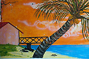 Mauritius. Painting at bar in Poudre D'or