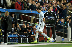 Claudio Bravo of Manchester City cuts a dejected figure as he is sent off and walks towards the tunnel  - Mandatory by-line: Dougie Allward/JMP - 19/10/2016 - FOOTBALL - Camp Nou - Barcelona, Catalonia - FC Barcelona v Manchester City - UEFA Champions League