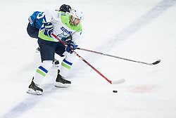 Bostjan Golicic of Slovenia during the 2017 IIHF Men's World Championship group B Ice hockey match between National Teams of Finland and Slovenia, on May 10, 2017 in AccorHotels Arena in Paris, France. Photo by Vid Ponikvar / Sportida