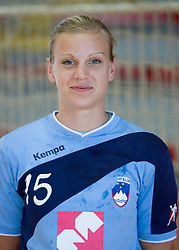 Portrait of Barbara Varlec of Slovenian Handball Women National Team, on June 3, 2009, in Arena Kodeljevo, Ljubljana, Slovenia. (Photo by Vid Ponikvar / Sportida)