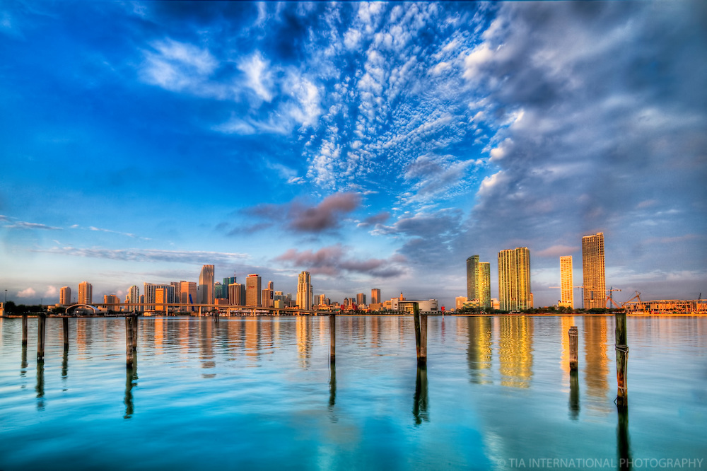Miami Skyline & Biscayne Bay