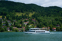 ROTTACH-EGERN, GERMANY - Wednesday, July 26, 2017: A tourist cruise boat on Lake Tegernsee from Rottach-Egern, the base for Liverpool's preseason training camp in Germany. (Pic by David Rawcliffe/Propaganda)