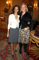 Left to right, FIZZY BARCLAY and DORA LOEWENSTEIN at a ladies lunch in aid of the NSPCC held at The Ritz, Piccadilly, London on 7th March 2006.<br />