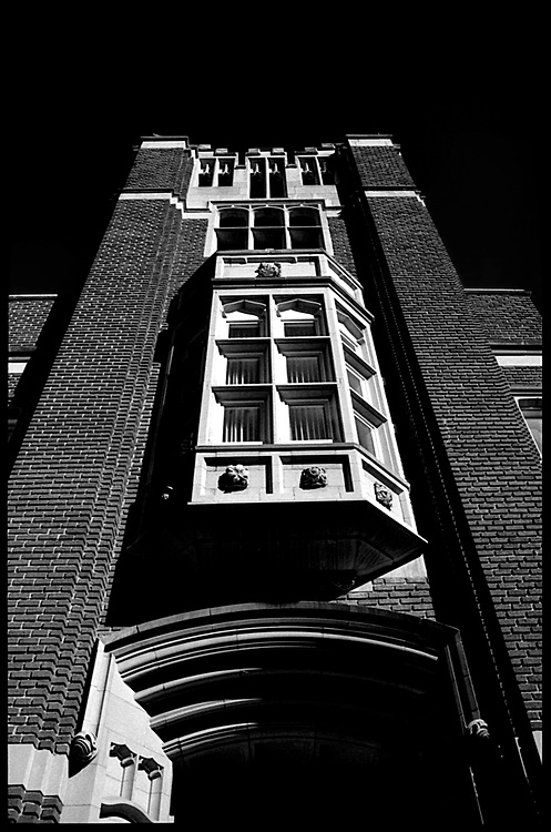Black and white shots of Historic Edmonton landmarks.