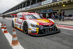 March 9, 2018 - Sao Paulo, Sao Paulo, Brazil - Mar, 2018 - Qualifying training for the pair stage of the Stock Car 2018, at the Autodromo de Interlagos, in São Paulo, this Friday (9). The pilots DANIEL SERRA and JOÃO PAULO OLIVEIRA of the team EUROFARMA-RC were in pole position. In the photo the car of the pilots RICARDO ZONTA and LAURENS VANTHOOR of the team SHELL V-POWER. (Credit Image: © Marcelo Chello via ZUMA Wire)