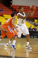 November 25th, 2010:  Anchorage, Alaska - Arizona State guard Keala King (21), passes the ball in the Sun Devils 73-55 win over Houston Baptist at the Great Alaska Shootout.