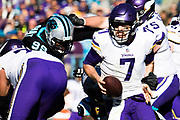 December 10, 2017: Minnesota vs Carolina. Julius Peppers sacks Keenum, Case