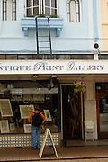 Window shopping on New Regent Street, Christchurch, New Zealand