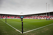 A general view of Parc Y Scarlets, home of Scarlets<br /> <br /> Photographer Simon King/Replay Images<br /> <br /> Guinness PRO14 Round 19 - Scarlets v Glasgow Warriors - Saturday 7th April 2018 - Parc Y Scarlets - Llanelli<br /> <br /> World Copyright &copy; Replay Images . All rights reserved. info@replayimages.co.uk - http://replayimages.co.uk