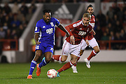 Birmingham City midfielder Jacques Maghoma (19) during the EFL Sky Bet Championship match between Nottingham Forest and Birmingham City at the City Ground, Nottingham, England on 14 October 2016. Photo by Jon Hobley.