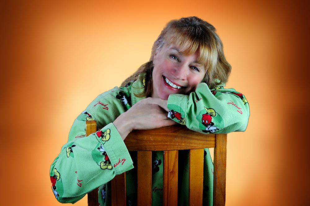 Marsha in Mickey Mouse pajamas