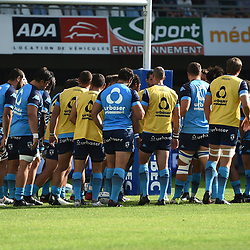 Team of Montpellier during the Top 14 match between Montpellier and SU Agen at  on August 26, 2017 in Montpellier, France. (Photo by Alexandre Dimou/Icon Sport)