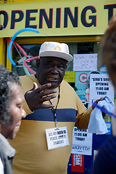 UK ENGLAND LONDON 19AUG11 - A local resident of Caribbean descent speaks in Clarence Road, Hackney, east London. During the August riots in London, Clarence Road in Hackney featured some of the most devastating scenes of looting and violence...jre/Photo by Jiri Rezac..© Jiri Rezac 2011