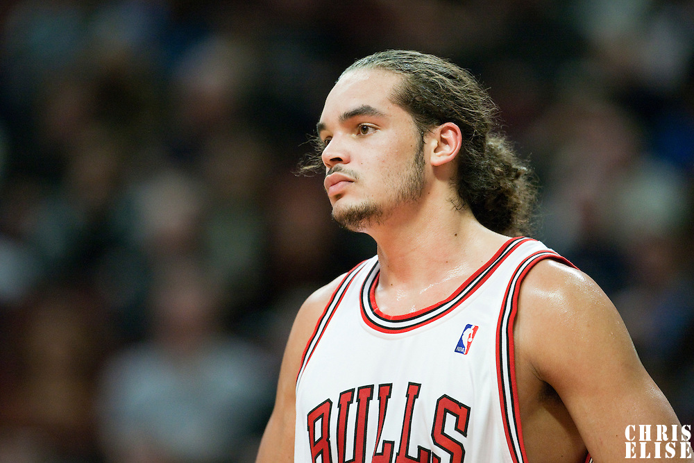 11 December 2009: Chicago Bulls center Joakim Noah is seen during the Chicago Bulls victory 96-91 in overtime over the Golden State Warriors at the United Center, in Chicago, Illinois, USA.