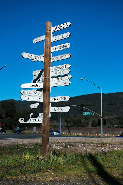 Sonoma Wineries Sign | March 9, 2013