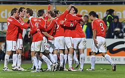 26.11.2010, Bruchwegstadion, Mainz, GER, 1. FBL, FSV Mainz 05 vs 1.FC Nuernberg, im Bild Mainz bejubelt das 2:0, EXPA Pictures © 2010, PhotoCredit: EXPA/ nph/  Roth       ****** out ouf GER ******