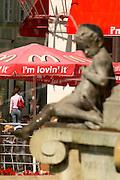 Europe, Slovakia, capitol city - Bratislava, Slovak Mc Donalds on the main square, Hviezdoslavovo Namastie