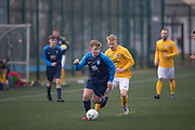 Dundee Saturday Morning Football League sides Riverside (blue) and Park Tool (yellow) met in friendly action at DISC