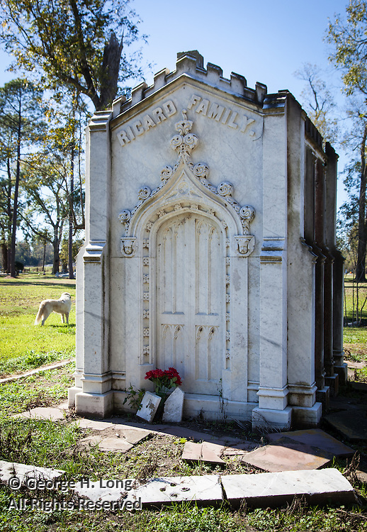 Ricard family tomb in St. Raphael Cemetery on River Road near Plaquemine