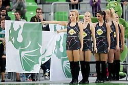 Dragon Ladies during basketball match between KK Union Olimpija (SLO) and Real Madrid (ESP) in 5th Round of Regular season of Euroleague 2012/13 on November 9, 2012 in Arena Stozice, Ljubljana, Slovenia. (Photo By Urban Urbanc / Sportida)